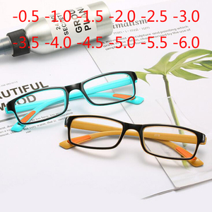 TR90 Myopia Glasses Women Men Square Finished Nearsighted Eyeglasses Female Male Shortsighted Eyewear Spectacles -0.5 TO -6.0