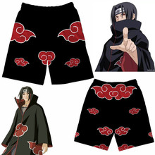 Ainme Naruto Uchiha Itachi Cosplay Kostuums Akatsuki Konoha Shorts Kind Volwassen Broek Joggingbroek Strand Shorts Pyjamabroek Nieuwe
