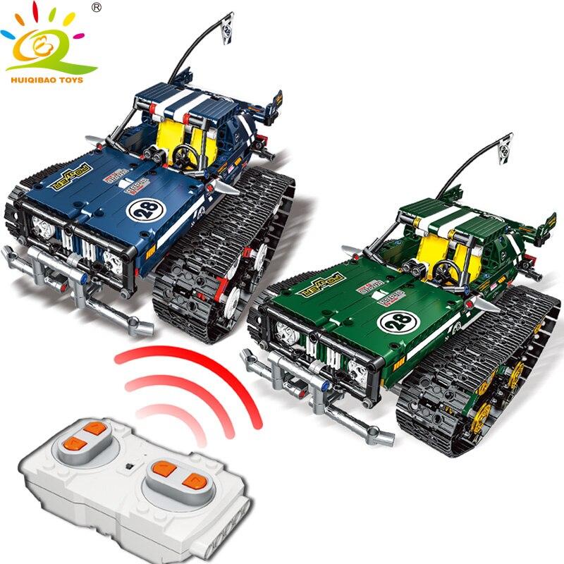 626 pièces télécommande hors piste de route bloc de Construction de véhicule à moteur incroyablement technique RC voiture Construction briques jouets pour enfants
