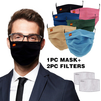 Women Men Masks Washable Mascarillas Protective Adult's Flag Embroidery Reusable Breathable Washable Mask 5pc Filters Ins-tock image