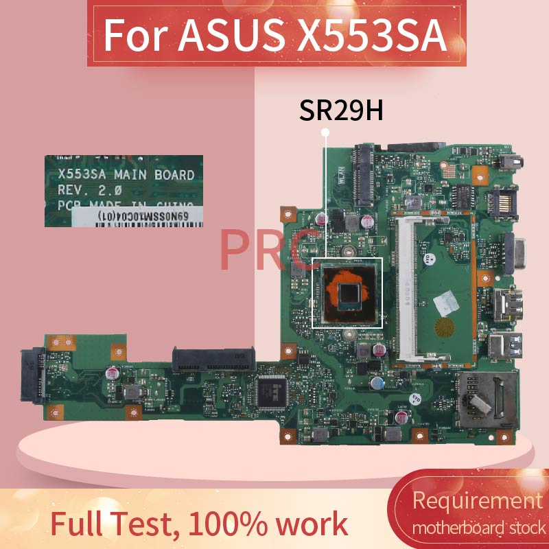 60NB0AC0 For ASUS X553SA Celeron N3050 Notebook Mainboard REV 2 0 SR29H DDR3 Laptop motherboard