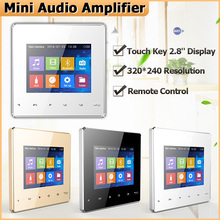 Home Bluetooth usb sd Mini Audio Wall Screen Amplifier tablet smart Music System movie player amplifier with Touch Key for hotel