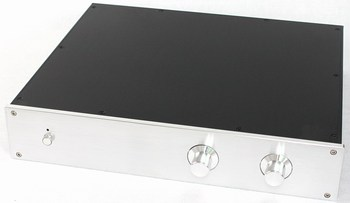 WA116 All aluminum amplifier chassis / Preamplifier case / AMP Enclosure DIY box (425 *80*352mm)