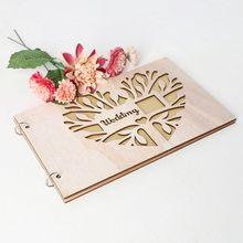 20 листов персонализированный гость книга свадебное сердце деревянные гостевые книги подписи сообщение скрапбук фоторамка деревенские свадебные подарки