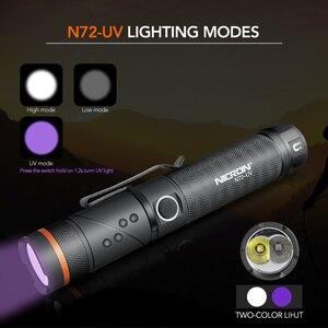Image 4 - NICRON Handfree טוויסט LED פנס בהירות גבוהה עמיד למים 800LM CREE לבן/UV אור LED לפיד מגנט אור N72/ n72 UV