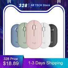 Original Logitech Pebble M350 Wireless Bluetooth Mouse Mini&Thin 1000DPI 100g High Precision Optical Tracking Unifying Colorful