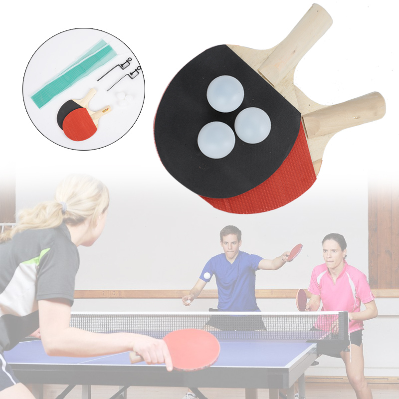 Portable Table Tennis Set Table Tennis Table Colour Wood Table Tennis Net Practical Durable Pingpong Sports Play Gift Game