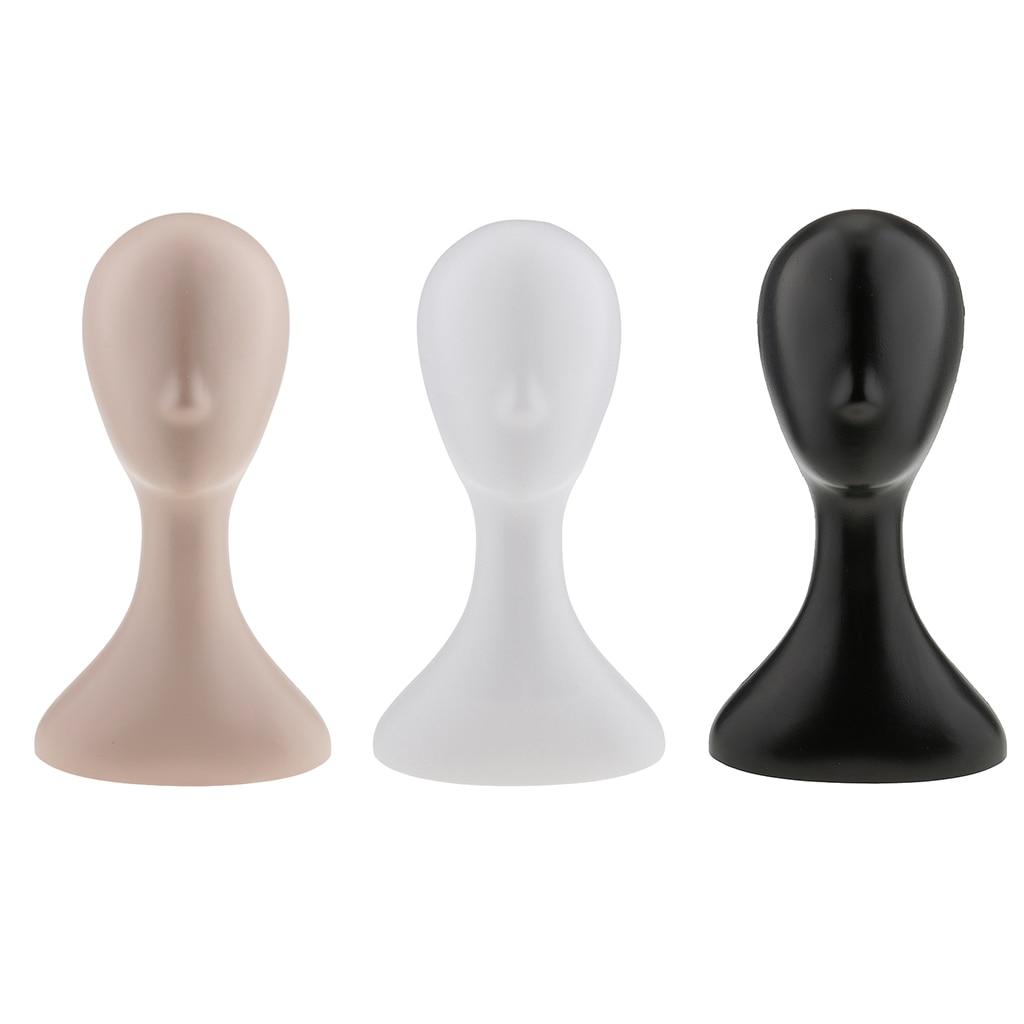 Женский пластиковый манекен для лица, модель манекен-голова, парик, солнцезащитные очки, очки, шапка, дисплей, белый, черный цвет