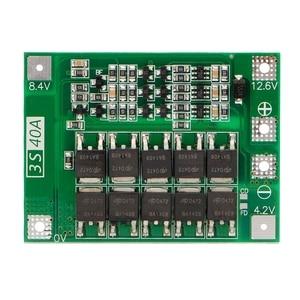 Image 1 - 小売3s 40A 18650リチウムイオンリチウム電池充電器保護ボードpcb bmsドリルモータ11.1v 12.6vリポ電池モジュール