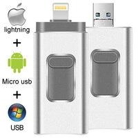 Pen drive 128g 64 gb 32 gb 16 gb usb flash movimentação 3.0 da pena da vara do flash de usb da vara de usb para o iphone da apple ipad ipod