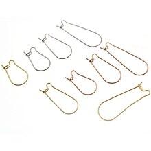 50pcs/lot Stainless Steel Hoops Earrings Hooks Big Circle Ear Wire Hoops Earrings Wires For DIY Jewelry Making Supplies Z1196
