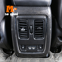 цена на 2014 2015 2016 2017 For Jeep Grand Cherokee Car ABS Carbon Fibre Back Rear Air Conditioner Outlet Vent frame Cover Trim Accessor