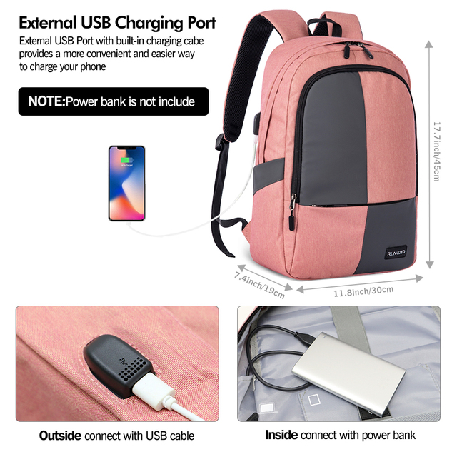 Zomake laptopa plecak szczupła wodoodporny College podróży piesze wycieczki torba kempingowa dla 15.6 Cal laptopa darmowa wysyłka