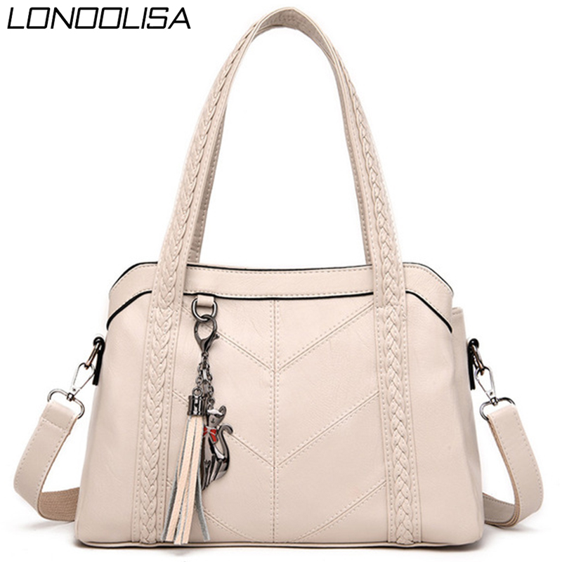 3 Main Bag Soft Leather Tassels Tote Luxury Handbags Women Bags Designer Ladies Hand Shoulder Crossbody Bags For Women 2020 Sac