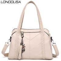 3 wichtigsten Tasche Leder Quasten Luxus Handtaschen Frauen Taschen Designer Damen Hand Schulter Umhängetaschen für Frauen 2019 Bolso Mujer
