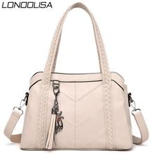 Doux en cuir véritable glands fourre tout de luxe sacs à main femmes sacs concepteur dames main épaule bandoulière sacs pour femmes 2020 Sac