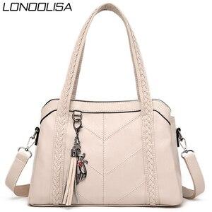 Image 1 - Miękkie oryginalne skórzane frędzle Tote luksusowe torebki damskie torebki projektant panie ręcznie torby na ramię Crossbody dla kobiet 2020 Sac
