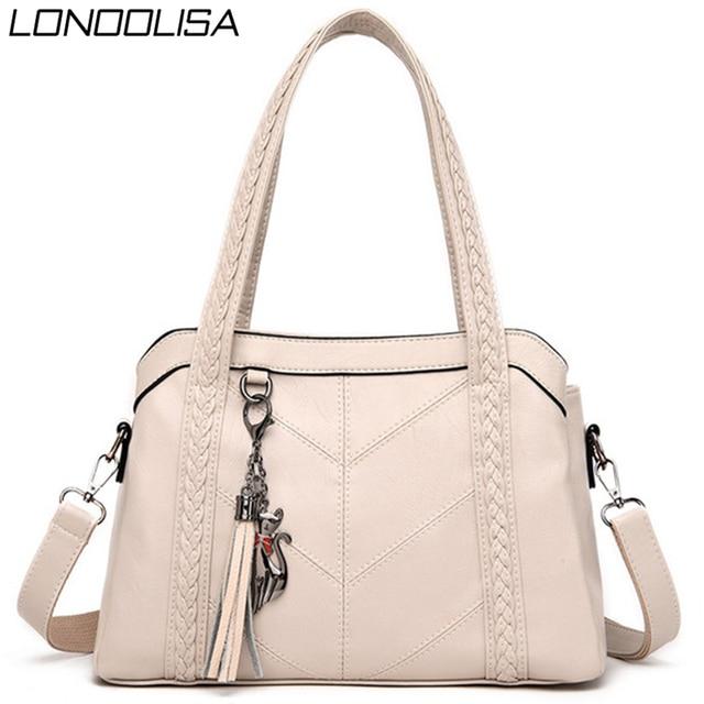 Miękkie oryginalne skórzane frędzle Tote luksusowe torebki damskie torebki projektant panie ręcznie torby na ramię Crossbody dla kobiet 2020 Sac