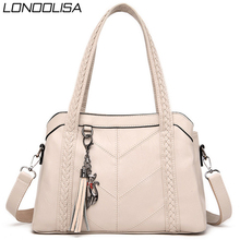 Soft Genuine Leather Tassels Tote Luxury Handbags Women Bags Designer Ladies Hand Shoulder Crossbody Bags for Women 2020 Sac