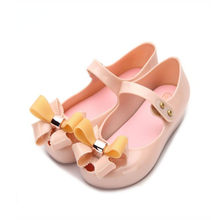 Mini Melissa 2 Layers Bow Brazil Girls Jelly Sandals 2019 Summer Children Sandals Melissa Shoes Non-slip Girls Princess Sandals(China)