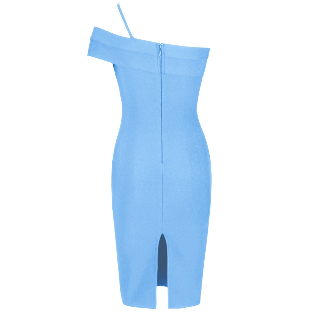 Image 5 - Deer Lady Celebrity Bandage Dress 2019 New Arrivals Women Blue 