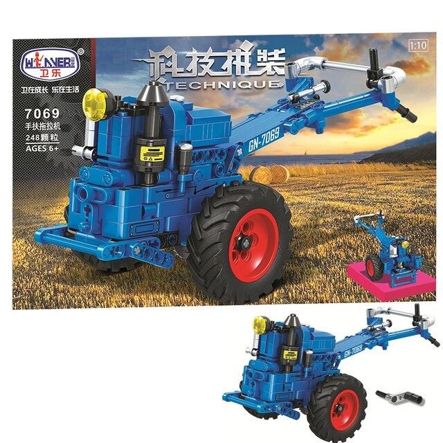 MOC City Walking Tractor 248pcs High-tech Creator Model Building Blocks Bricks educational Toys For boys Christmas Gifts juguete 1