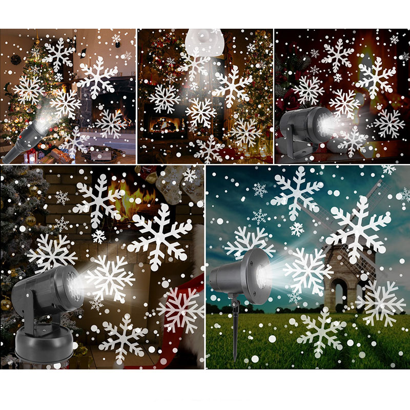 Image 4 - 4W Snowflake Pattern LED Laser Projector Lights 85V 240V Holiday Home Party Decoration Christmas Projector DJ Light Stage Lamp on