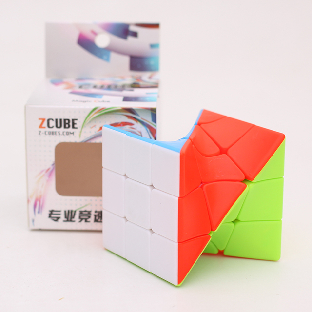 Z-Cube 3x3x3 Neo Torsion Twist magic cube puzzle Zcube 3x3x3 Intelligence Twisted Educational Cool Toys 6