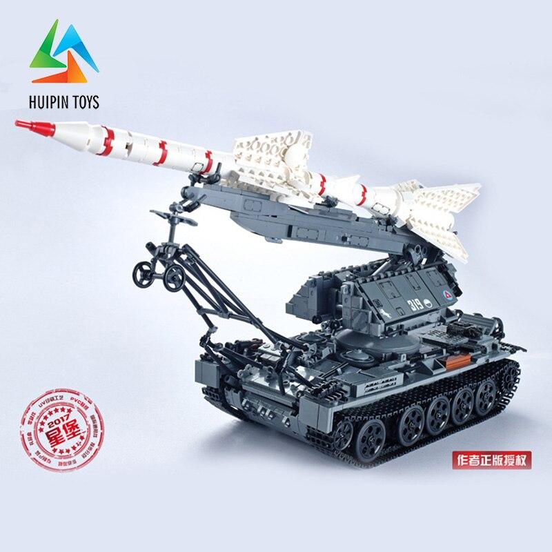 1623Pcs XINGBAO Building Blocks 06003 легоe Military MOC Series SA-2 GUIDELINE Missile Vehicle Tank Model Children Toys 4px 1