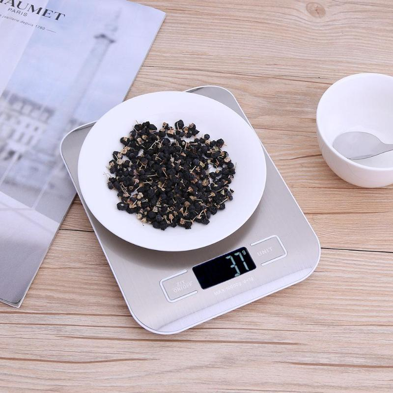 5kg 1g דיגיטלי נייד LCD מטבח תכשיטי מאזניים אלקטרוניים דואר מזון סולמות מדידת איזון משקל