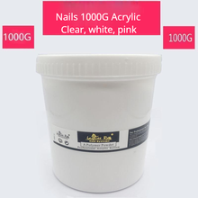 Nails 1000G Acrylic Powder Clear Pink White Carving Crystal Polymer 3D Nail Art Tips Builder Manicure Acrylic Powder for Nails