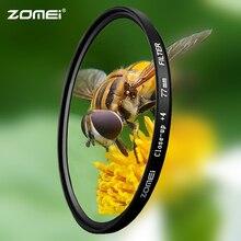 Zomei 매크로 클로즈업 렌즈 필터 + 1 + 2 + 3 + 4 + 8 + 10 캐논 니콘 dslr 카메라 용 광학 유리 카메라 필터 확대 촬영