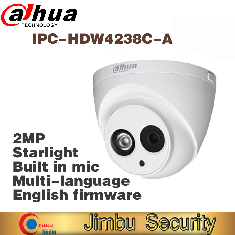 DH IPC-HDW4238C-A Starlight Camera Built-in MIC 2MP IR 30m IP67 network IP Camera HDW4233C-A cctv camera