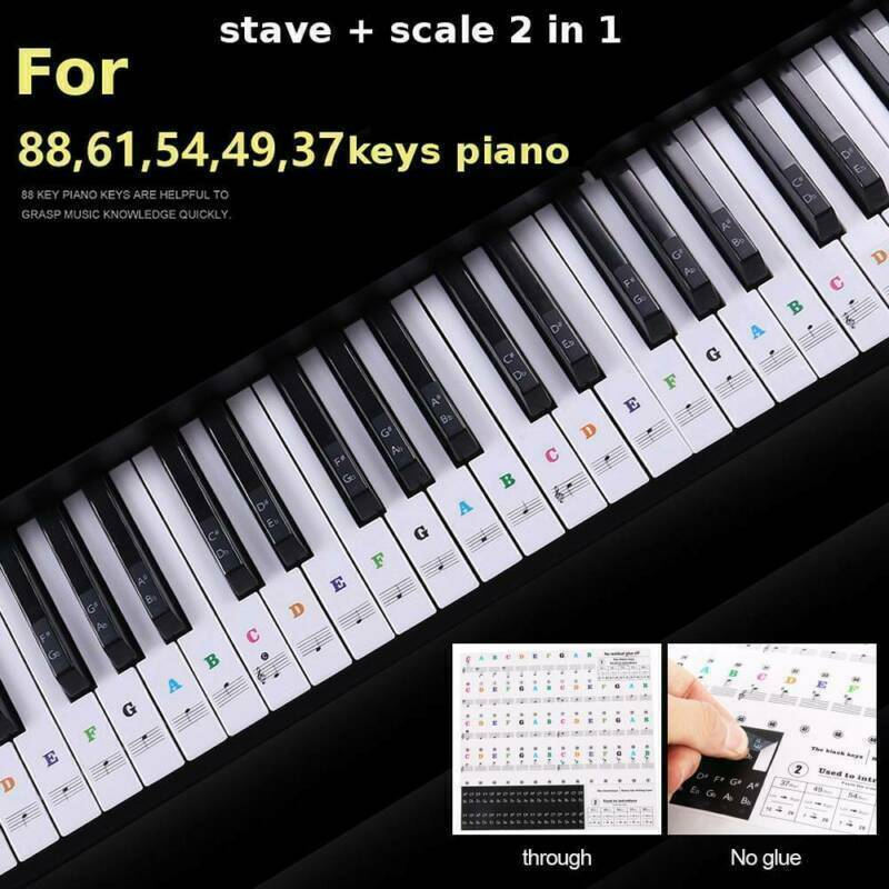 Transparan Piano Keyboard Sticker 54 61 Kunci Keyboard Elektronik Piano Stiker 88 Kunci Piano Mencegah Catatan Stiker Untuk Tombol Putih Wall Stickers Aliexpress