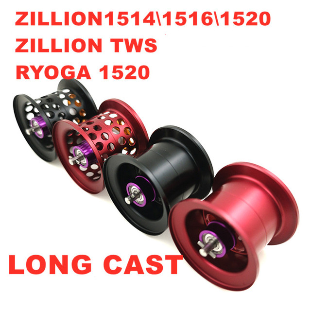 Diy Lange Cast Reel Fishing Spool Voor Daiwa ZILLION1514 \ 1516 \ 1520 \ Ontelbaar Tws Ryoga 1520 Lichtgewicht Vissen reel Spool