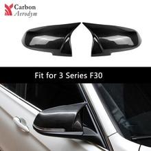 1 Pair Carbon Fiber/ ABS Rearview Mirror Cap Replacement Mirror Cover For BMW  F20 F21 F22 F30 F32 F33 F36 X1 E84 220i 328i 440i universal replacement carbon fiber mirror cover for bmw rearview door mirror covers x1 f20 f22 f30 gt f34 f32 f33 f36 m2 f87 e84