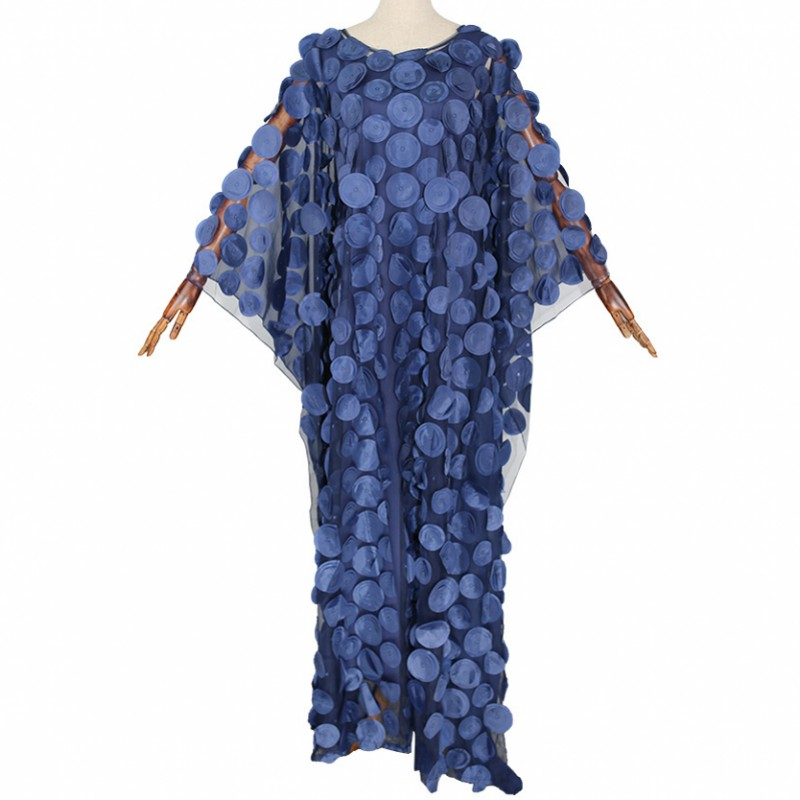 2020 African Dresses For Women New Style African Clothes Bazin Fashion Lace Floral Boubou Robe Africain Dashiki Party Long Dress