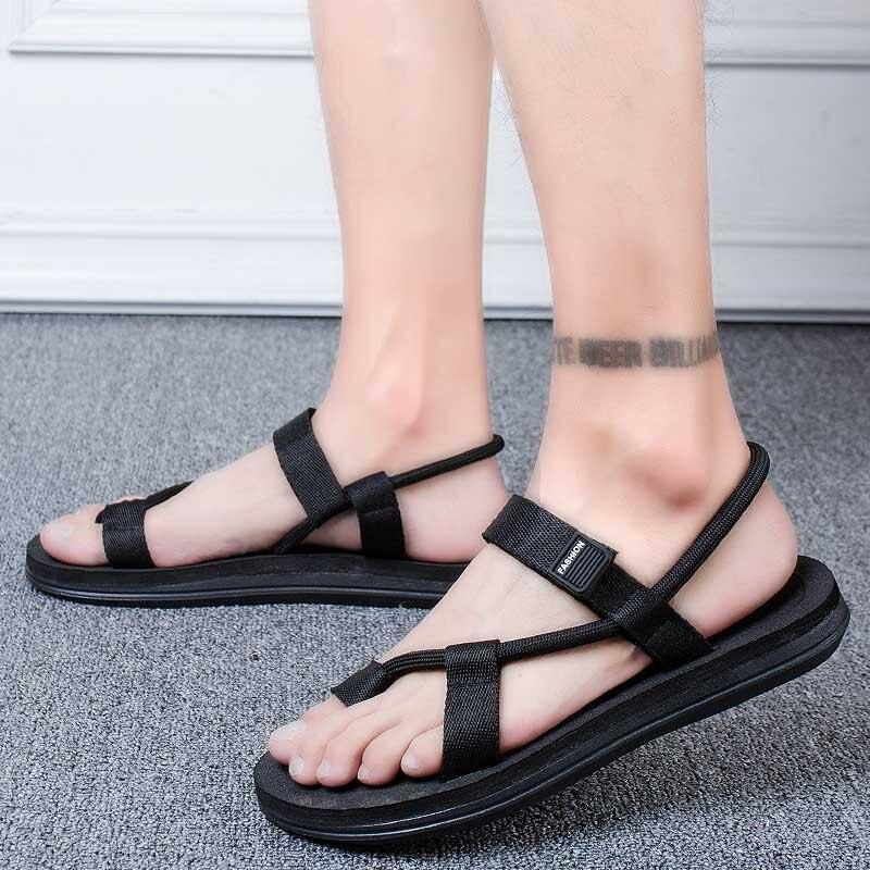 Summer Vietnam Men's Sandals Lovers' Personalized Trend Rubber Leisure Antiskid Beach Women's Walking Breathable Sandals