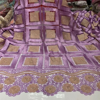 2019 Latest Guipure Lace Cord Lace Embroiderey French African Cord Lace Fabric High Quality Nigeria Lace Fabric For Wedding WD13