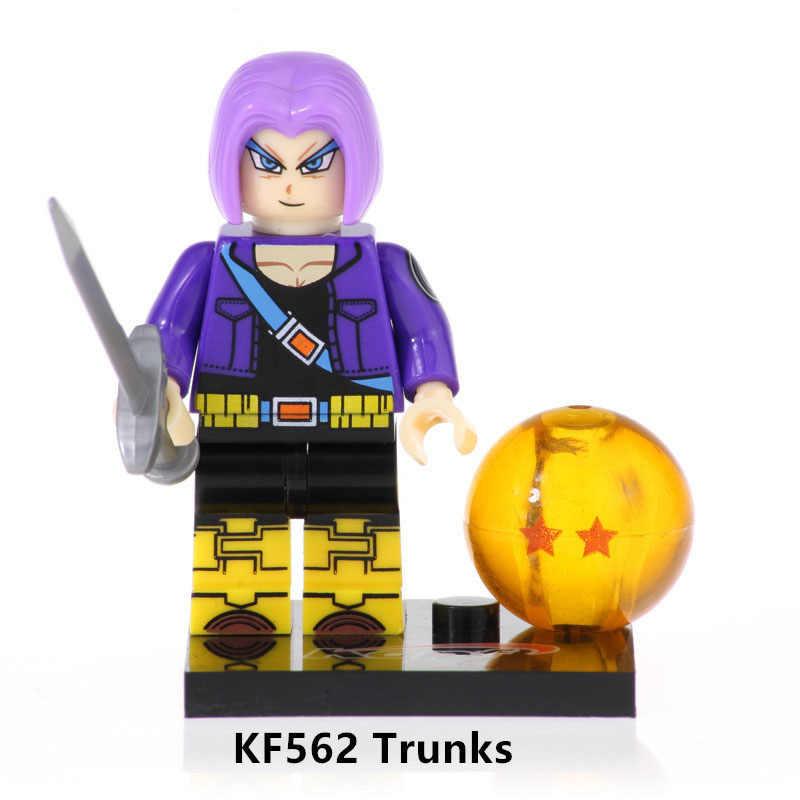 Kf6045 única venda blocos de construção dragon ball filho gohan troncos janemba vegeta tijolos ação learnng figuras para crianças brinquedos
