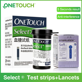 Select Simple Glucose Test Strips and Lancets Needles Only for select simple blood Glucose Meter Glucometer for Diabetes