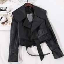 New Korean Short Leather Jacket Women's New Women's Korean BF Motorcycle Leather