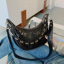 Alligator Pattern Retro PU Leather Crossbody Bags Women Small Shoulder Messenger Bag Women Casual Shoulder Handbags Travel Purse