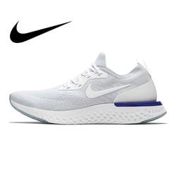 Original Authentischen Nike Epic Reagieren Flyknit männer Laufschuhe Mode Im Freien Turnschuhe Spitze-up Schuhe Schwarz Grau Nicht -slip AQ0067