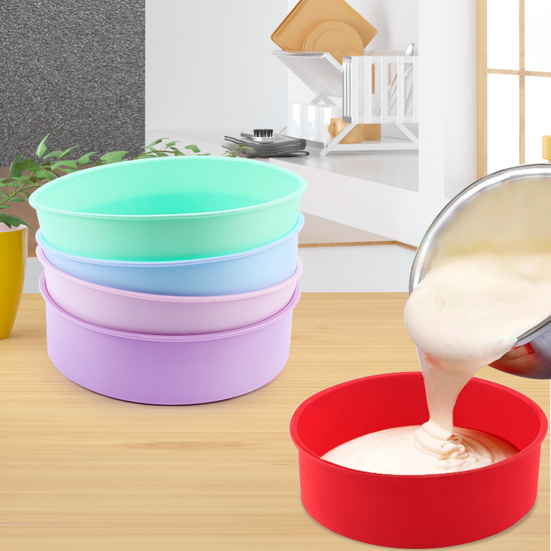 Round Silicone Cake Mold 4 6 8 10 Inch Silicone Mould Baking Forms Silicone Baking Pan For Pastry Cake