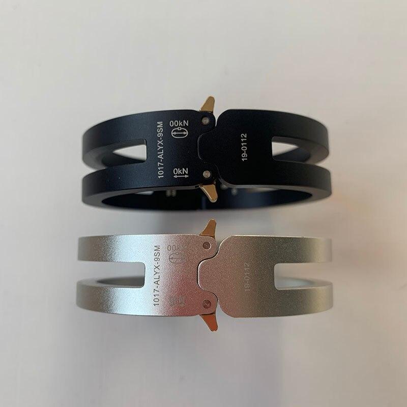 1:1 Best Version 1017 ALYX 9SM Rollercoaster Track Alyx Aluminium Alloy Bracelet Men Women Unisex Couples Jewelry Bangles Women