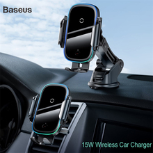 Baseus Qi Car Wireless Charger For iPhone 11 Pro XS Max Samsung S10 Intelligent