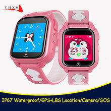 IP67 Waterproof Smart Safe GPS LBS Location Touch Screen SOS Call Monitor Wristwatch Tracker Phone Watch for Kids Child Student(China)