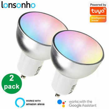 Lonsonho WiFi Led Lamp Smart Bulb Light E27 GU10 GU5.3 220V Tuya Smart Life Wireless Remote Control Compatible Alexa Google Home - DISCOUNT ITEM  35 OFF Lights & Lighting