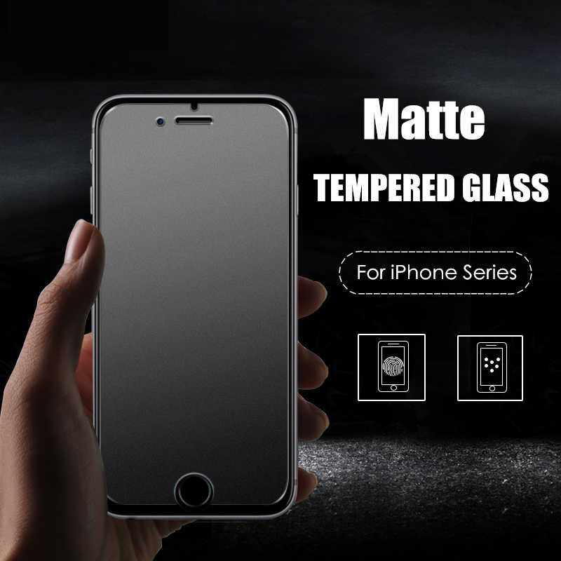 No Fingerprint Tempered Glass Screen Protector for iPhone X 7 5s 6 6S 8 Plus XS Max XR 11 Pro Frosted matt Glas Protective Film